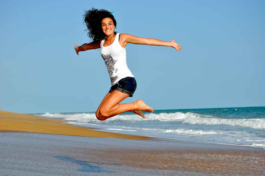 healthy beach woman girl