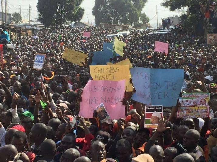Demonstration in Nairobi